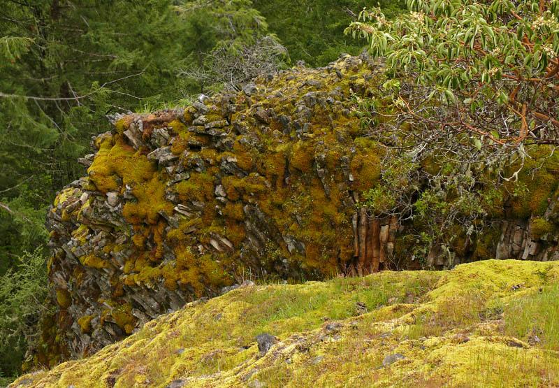 Rock feature in upper eastern meadow