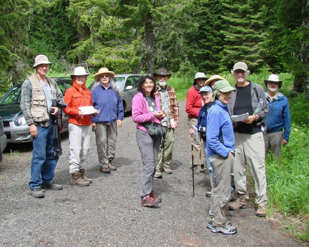 The group at Nevergo Meadow, Left to Right: