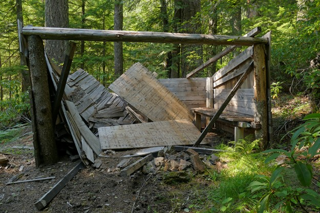 What's left of the Prairie Camp Shelter
